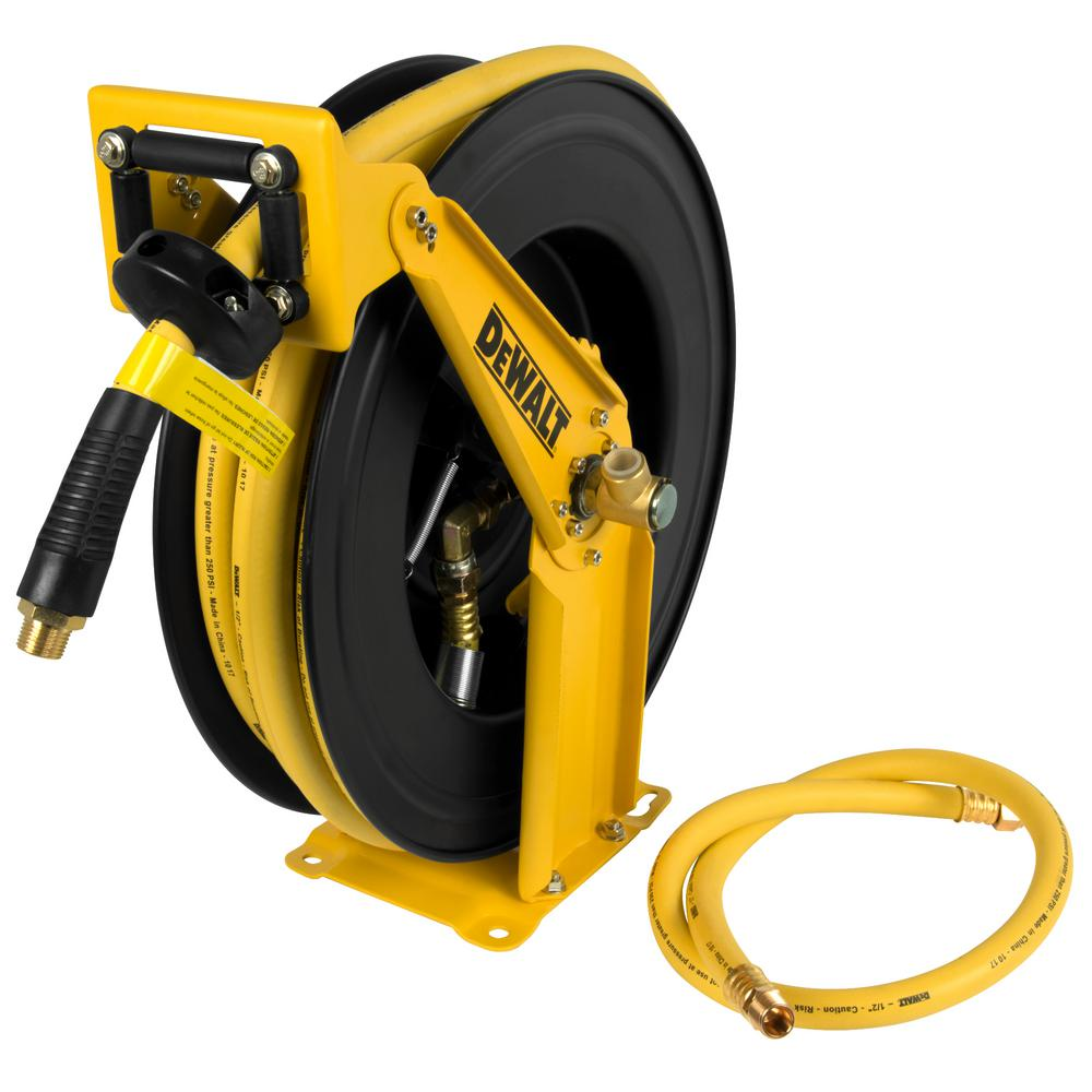 1/2 in. x 50 ft. Double Arm Auto Retracting Air Hose