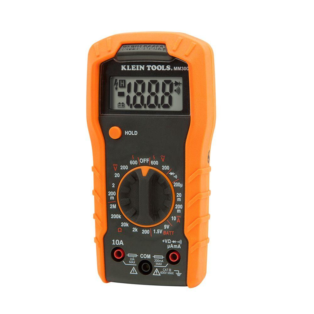 Klein Tools Manual Ranging Digital Multimeter Mm300 The Home Depot