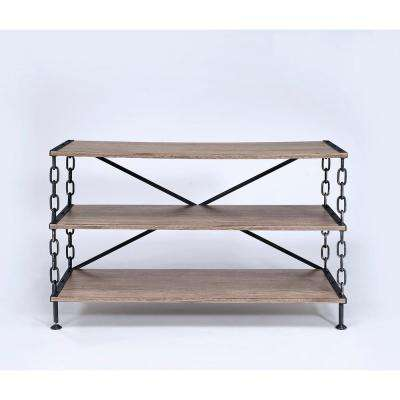 Rustic Wood Metal Tv Stands Living Room Furniture The Home