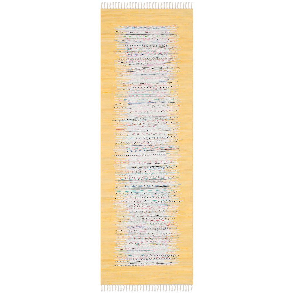 Montauk Ivory/Yellow 2 ft. x 7 ft. Runner Rug