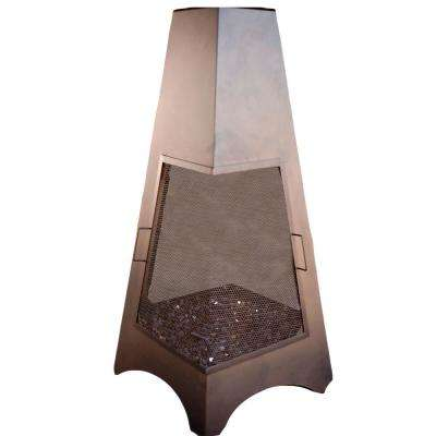 72 in. Bronze LP Gas Pyramid Chiminea (Outdoor Gas Chimney)