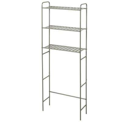 22.8 in. Slat Style Space Saver in Satin Nickel