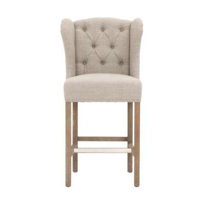 Madelyn 27.25 in. Natural Counter Stool