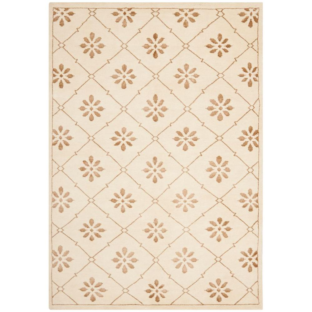 Mosaic Cream/Light Brown 4 ft. x 6 ft. Area Rug