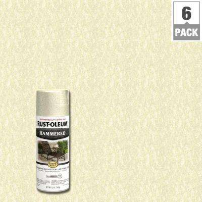 12 oz. Ivory Protective Enamel Spray Paint (6-Pack)
