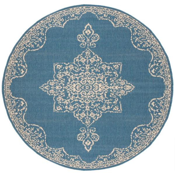 Indoor Outdoor Round Area Rug