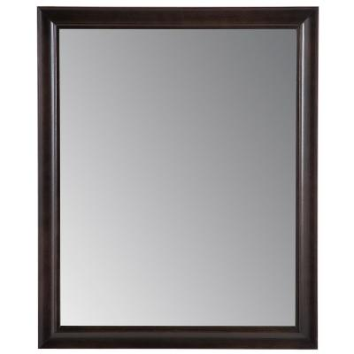 Candlesby 26 in. x 31 in. Framed Wall Mirror in Charcoal