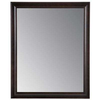 Candlesby 25.67 in. x 31.38 in. Framed Wall Mirror in Charcoal