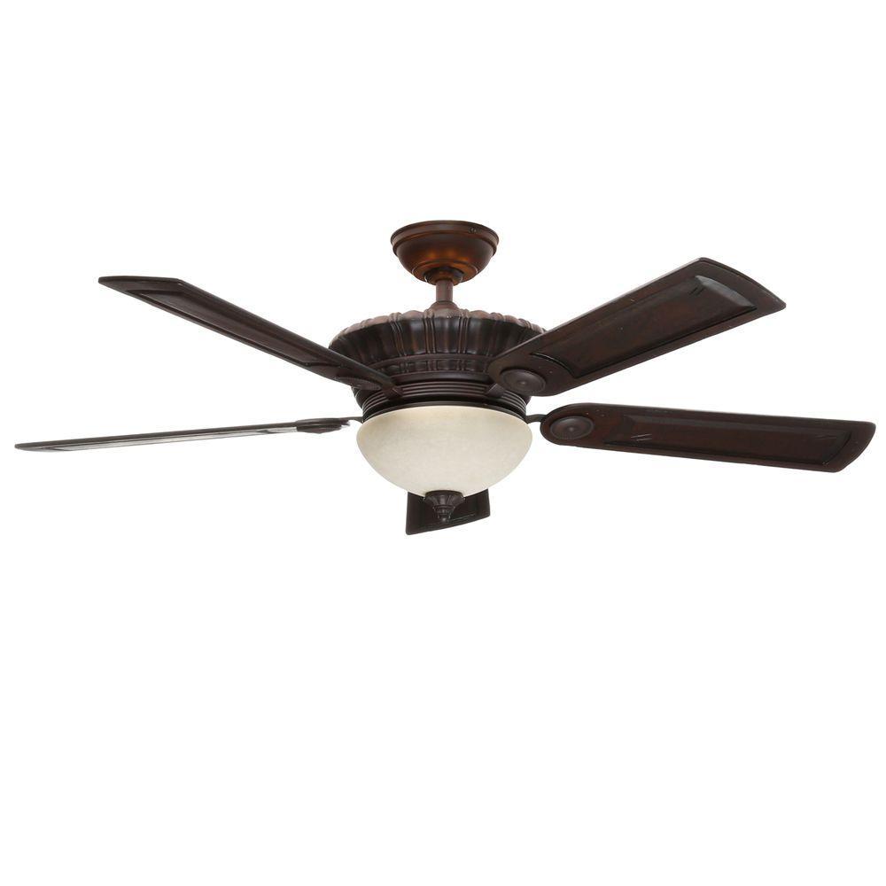 Casablanca Alessandria 54 in. Indoor Brushed Cocoa Bronze Ceiling Fan