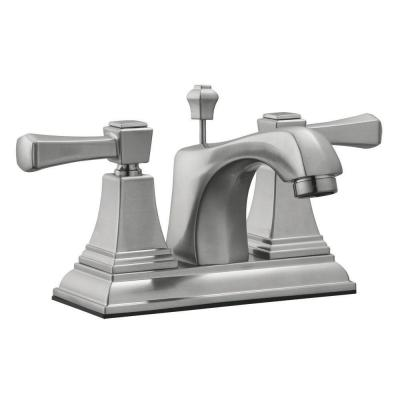 Torino 4 in. Centerset 2-Handle Bathroom Faucet in Satin Nickel