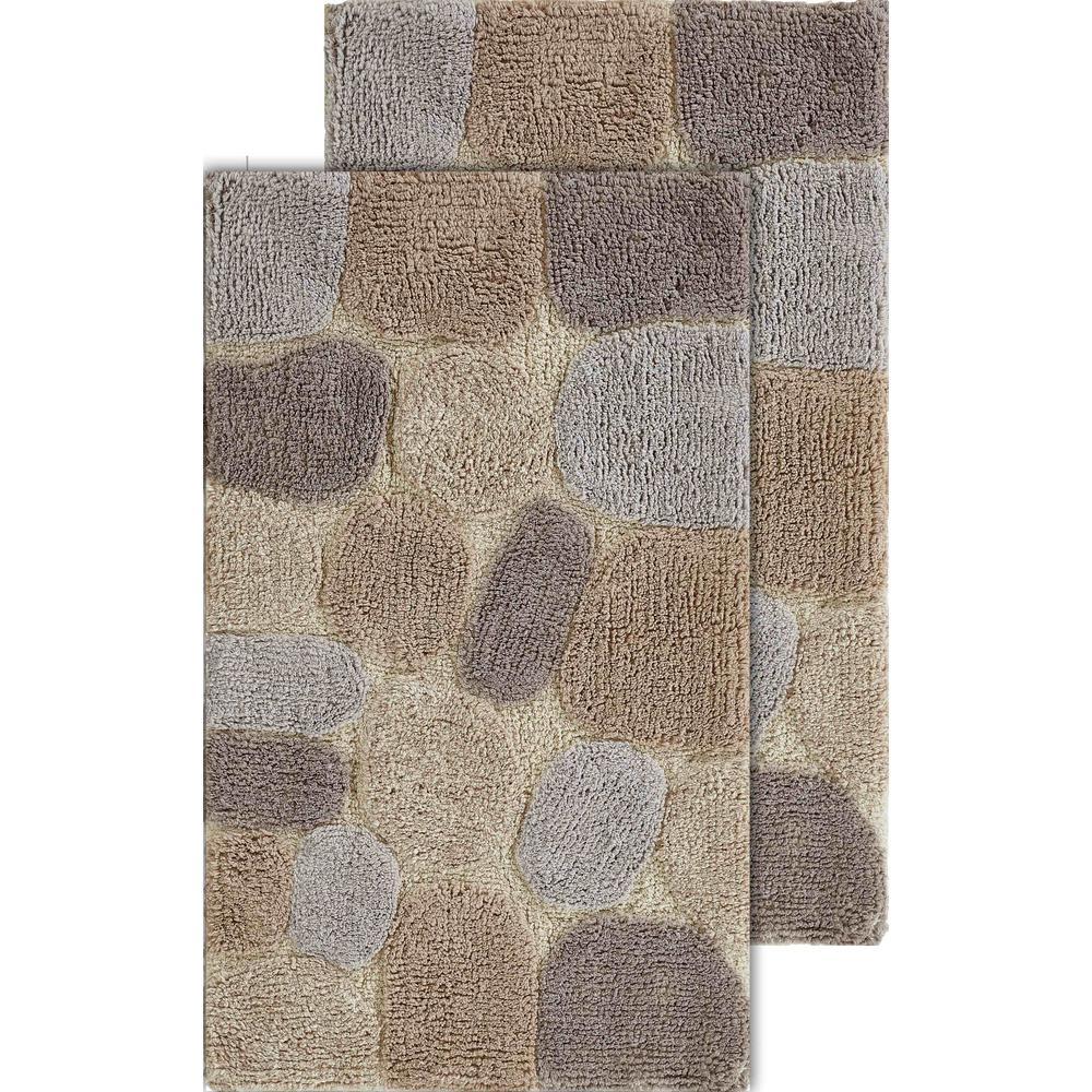 Pebbles Amethyst 20 in. x 32 in. Cotton
