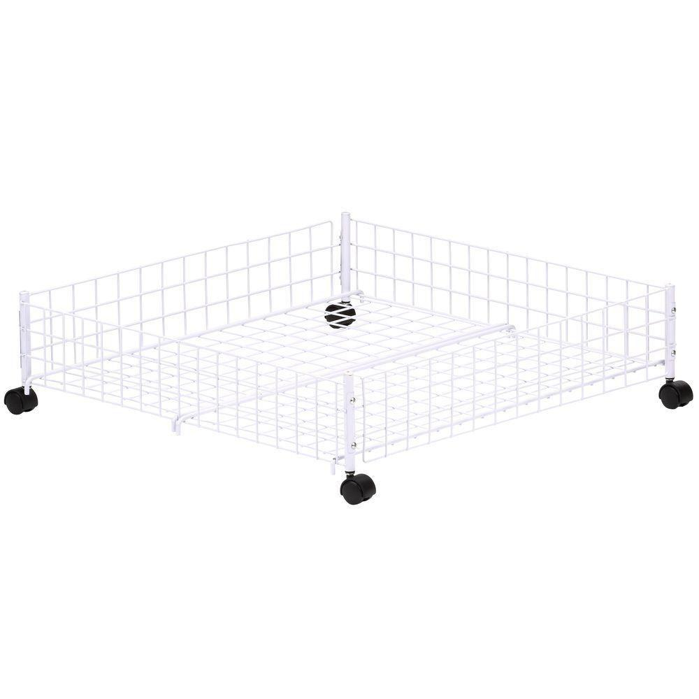 Whitmor White Wire Collection 24 In X 6 38 In Rolling