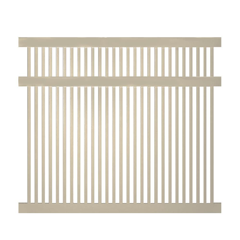Williamsport 5 ft. H x 8 ft. W Khaki Vinyl Pool Fence Panel