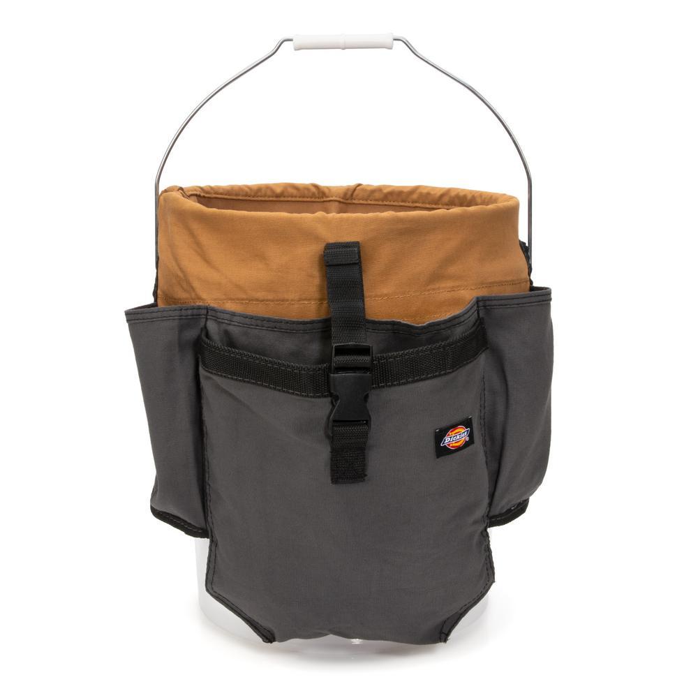 20.1 in. 12-Compartment Tool Bucket Organizer in Grey/Tan