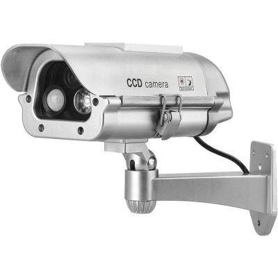 Solar Powered CCTV Security Dummy Camera with Motion Sensor and Flash Lights