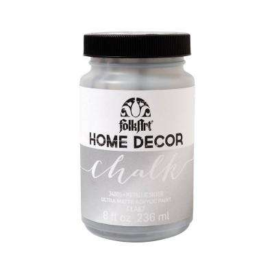 8 oz. Metallic Silver Chalk Finish Paint