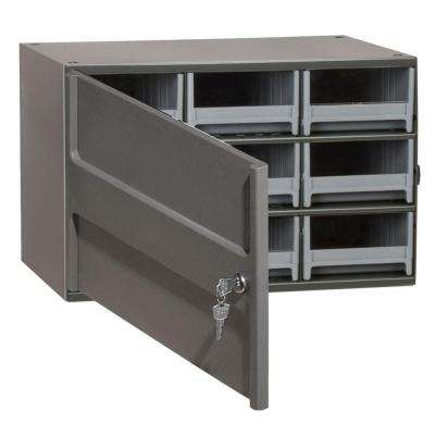 9-Drawer Small Parts Steel Cabinet with Locking Door
