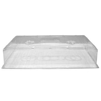11 in. x 22 in. Short Clear Plastic Dome (10-Pack)