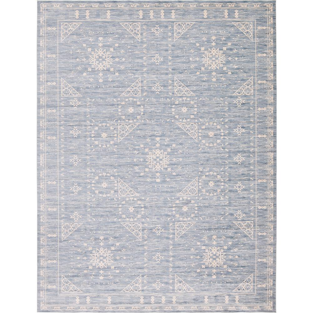 Unique Loom Kensington Blue 12 Ft 2 In X 16 Ft Area Rug