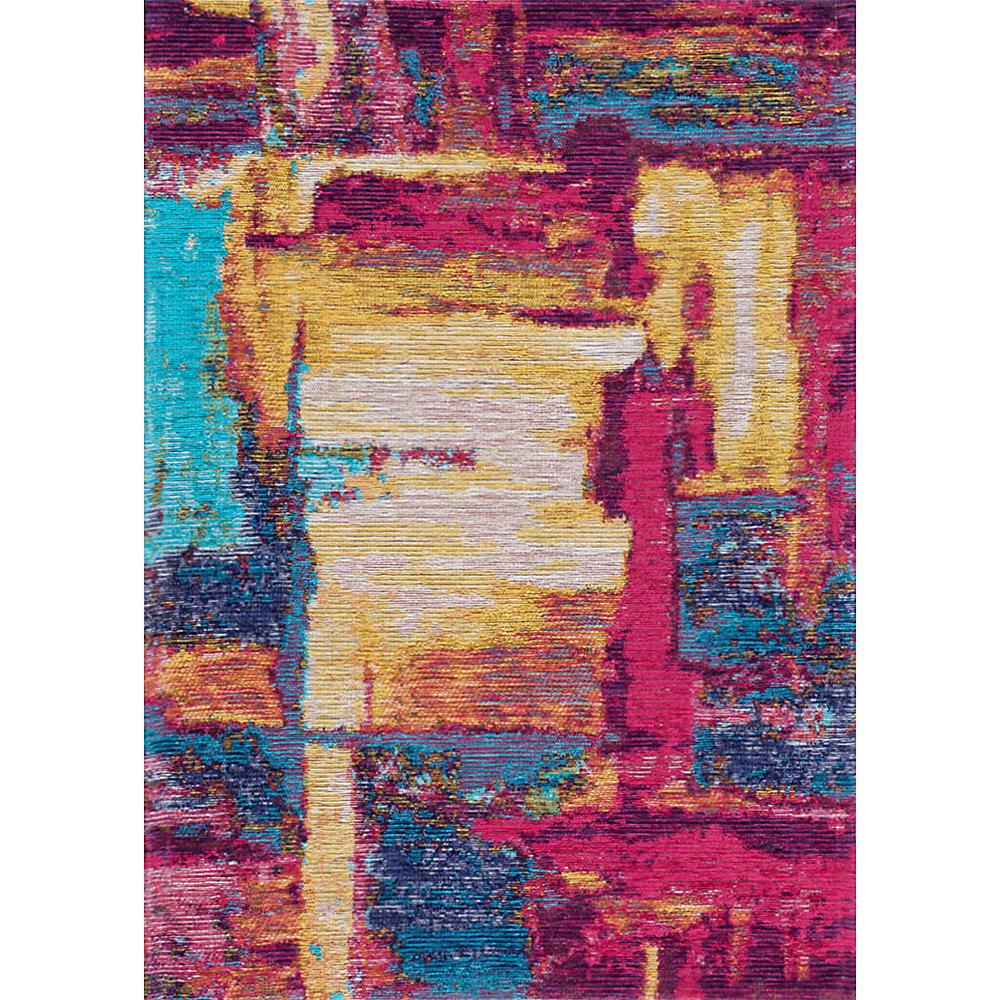 Tayse Rugs Dynasty Pink And Aqua 2 Ft. X 3 Ft