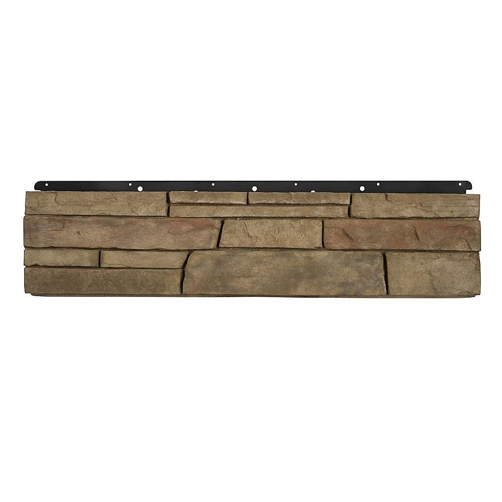 8 in. x 36 in. Versetta Stone Flat Ledgestone Terra Rosa Siding (6-Bundles)