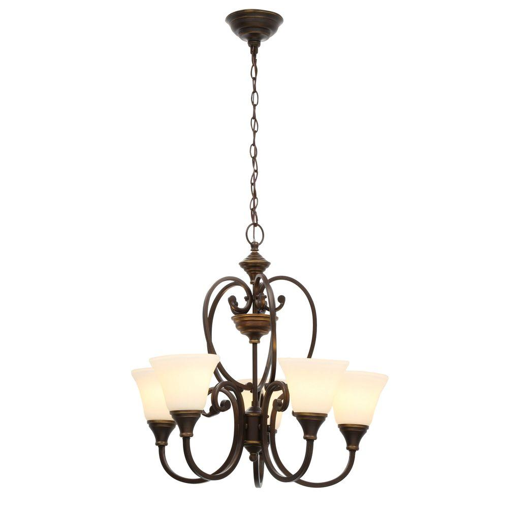 Somerset 5-Light Bronze Chandelier