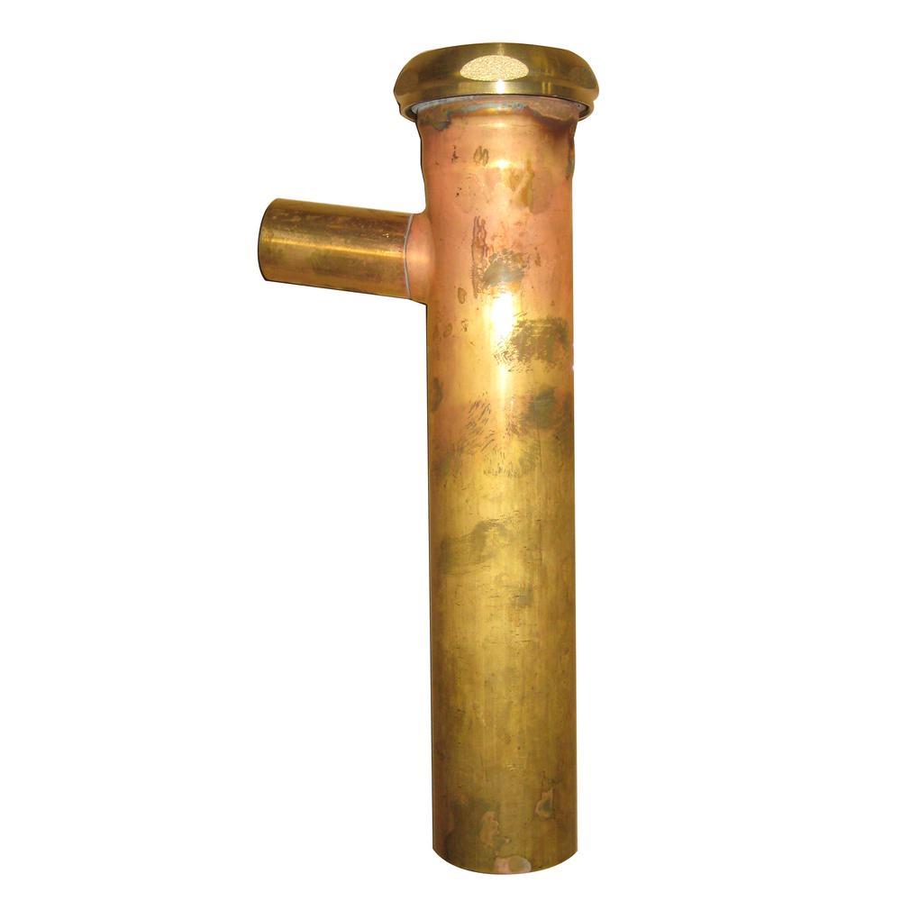1-1/2 in. x 8 in. Brass Branch Tailpiece, 22-Gauge