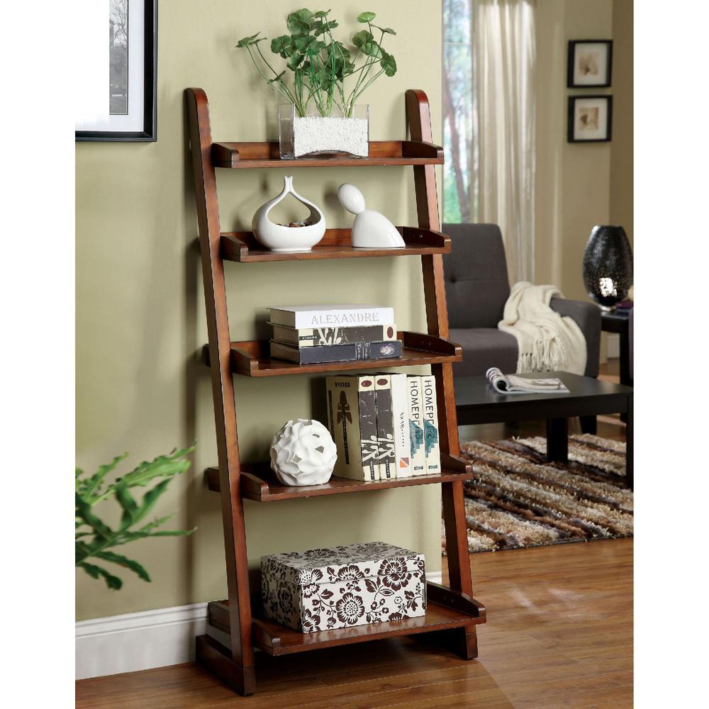 Lugo Antique Oak Ladder Bookcase