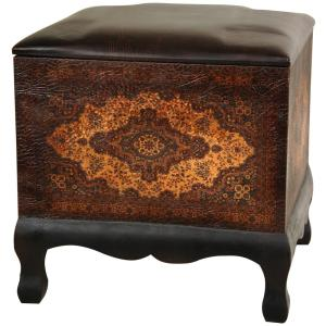 Brown Accent Ottoman by
