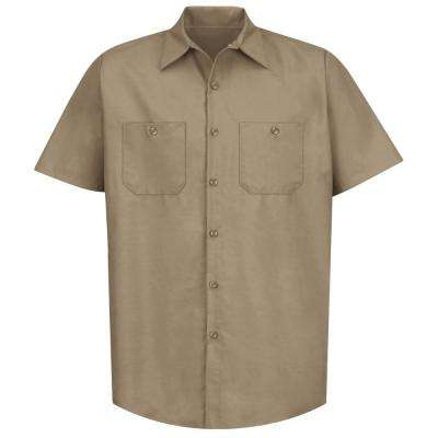 Men's Size 3XL Khaki Industrial Work Shirt