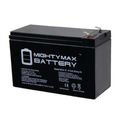 12-Volt 8 Ah Sealed Lead Acid (SLA) Rechargeable Battery