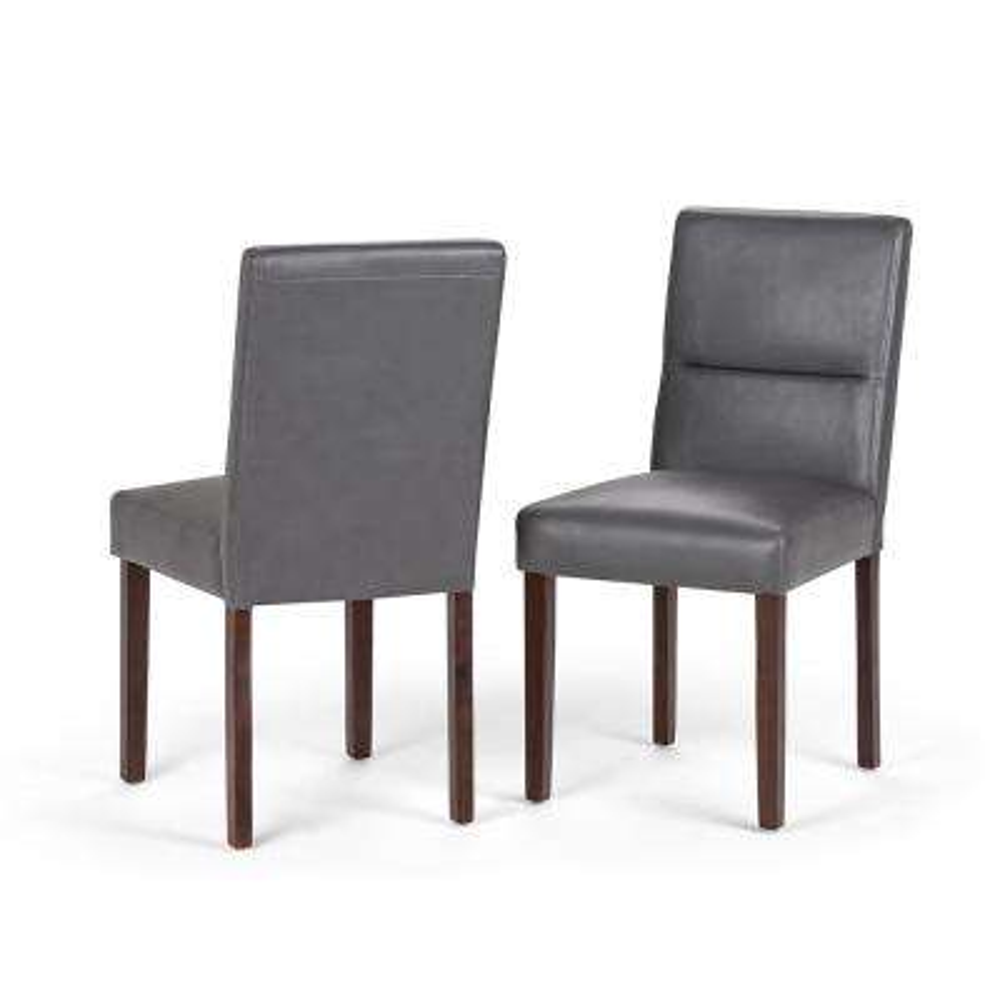 Ashford Stone Grey Parson Dining Chair (Set of 2)
