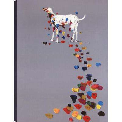 Footsteps, Animal Art, Canvas Print Wall Art Dcor 40X30 Ready to hang by ArtMaison.ca