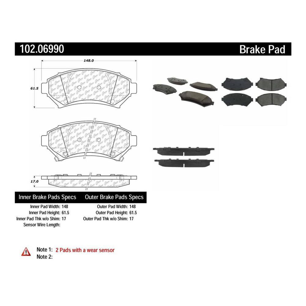 For 2000-2005 Buick,Pontiac LeSabre,Bonneville Full Kit Semi-Metallic Brake Pads