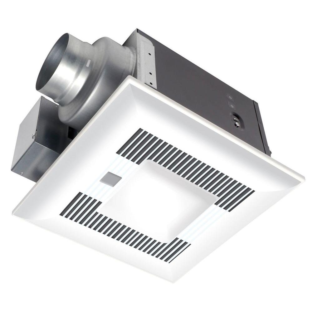 Panasonic 110 CFM Ceiling Humidity and Motion Sensing Exhaust Bath Fan with Light and Heater ENERGY STAR*-DISCONTINUED