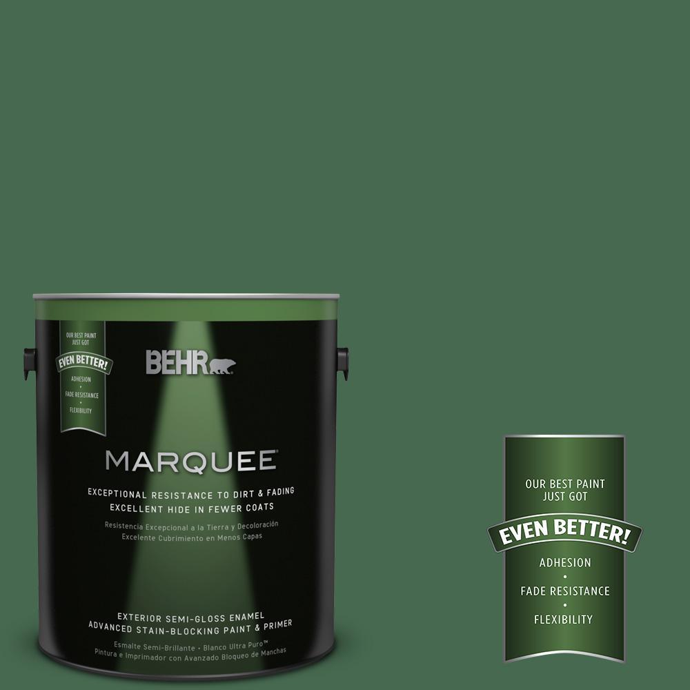1-gal. #M410-7 Perennial Green Semi-Gloss Enamel Exterior Paint