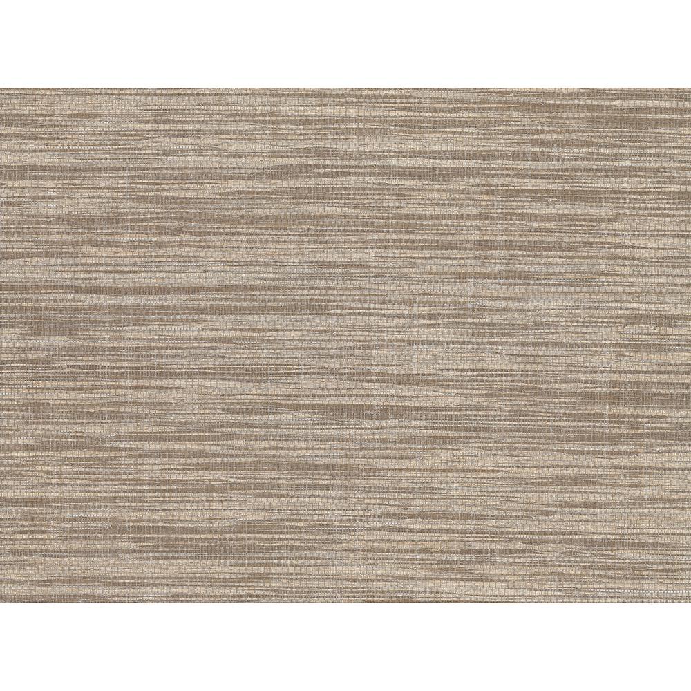 Kenneth James 72 sq. ft. Cavite Brown Grass Cloth Wallpaper 2732-80051