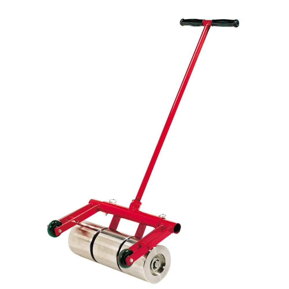 75 lb. Vinyl and Linoleum Floor Roller with Transport Wheels