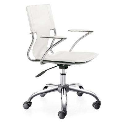 Trafico White Leatherette Office Chair