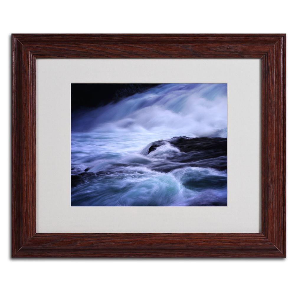 11 in. x 14 in. Blue Stream Matted Framed Art