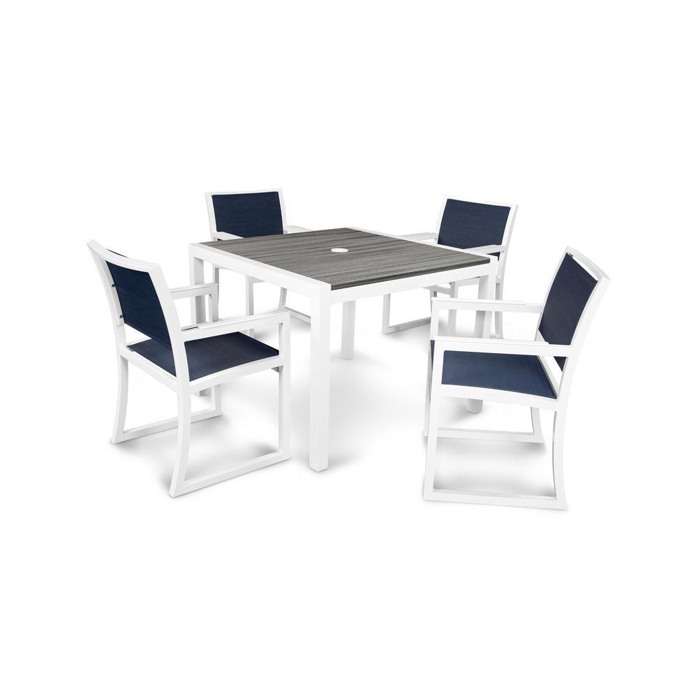 Trex outdoor furniture parsons 5 piece plastic outdoor for Outdoor furniture 5 piece