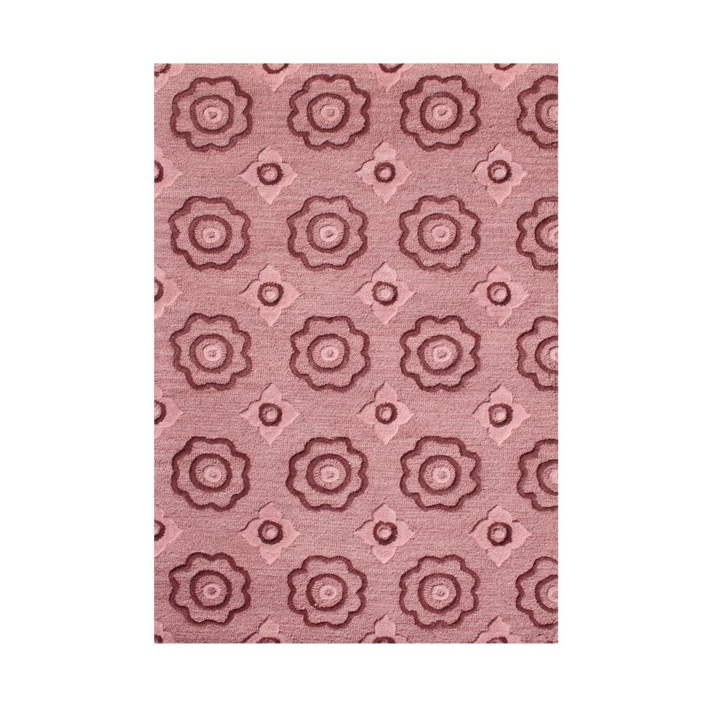 Rose Wine 8 Ft X 10 Ft Handmade Area Rug 90092 8x10