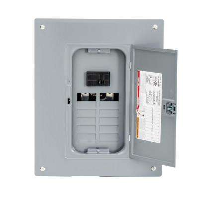 Homeline 100 Amp 12-Space 24-Circuit Indoor Main Breaker Plug-On Neutral Load Center with Cover