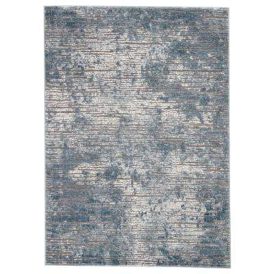 Tresca Blue 4 ft. 3 In. x 6 ft. 1 In. Abstract Rectangle Rug