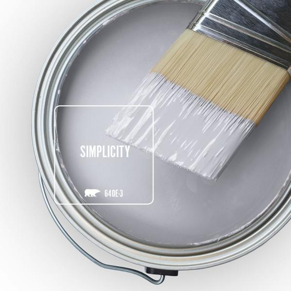 Reviews For Behr Ultra 1 Qt 640e 3 Simplicity Semi Gloss Enamel Exterior Paint And Primer In One 585004 The Home Depot