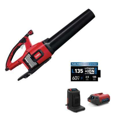 115 MPH 605 CFM 60-Volt Max Lithium-Ion Brushless Cordless Leaf Blower - 2.5 Ah Battery and Charger Included