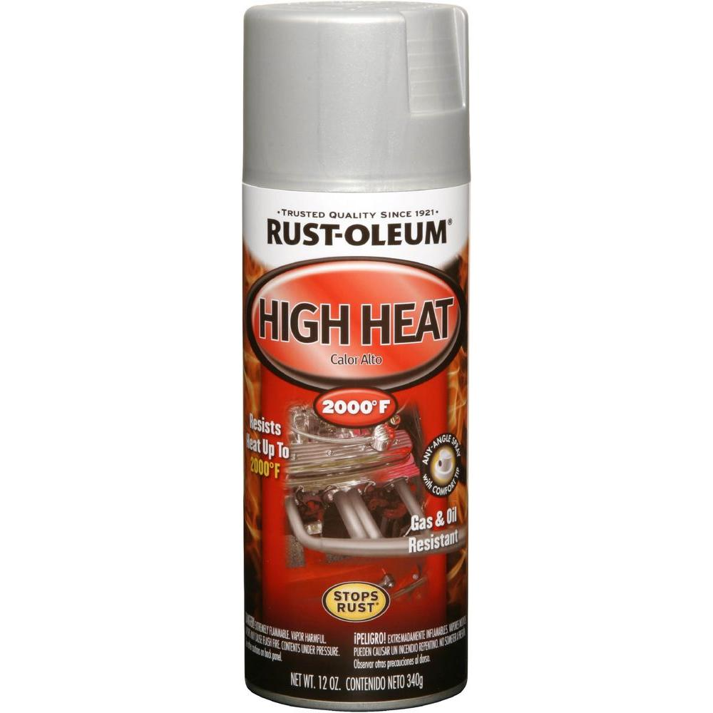 12 oz. High Heat Enamel Flat Aluminum Spray (6-Pack)