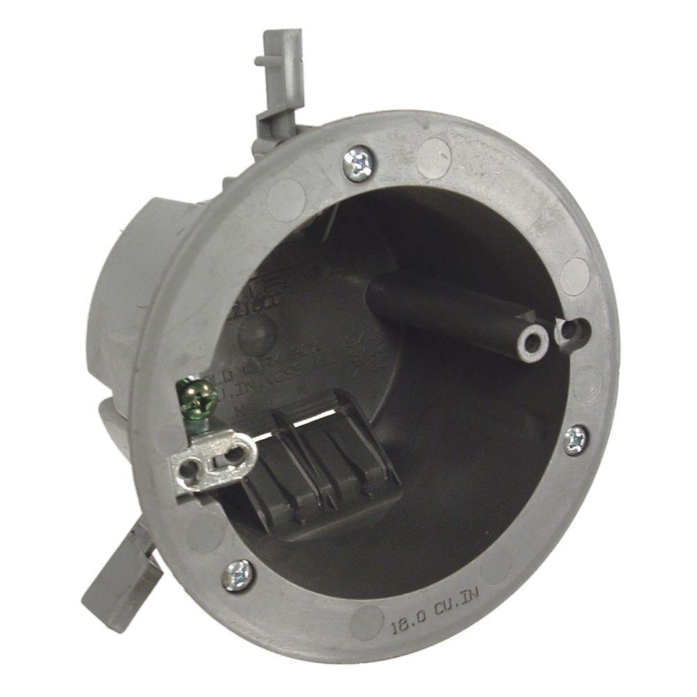 RACO 3-1/2 in. Round Non-Metallic Cable Box, 2-11/16 in. Deep (100-Pack)