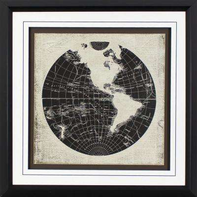 26.75 in. x 26.75 in. World News Printed Framed Wall Art