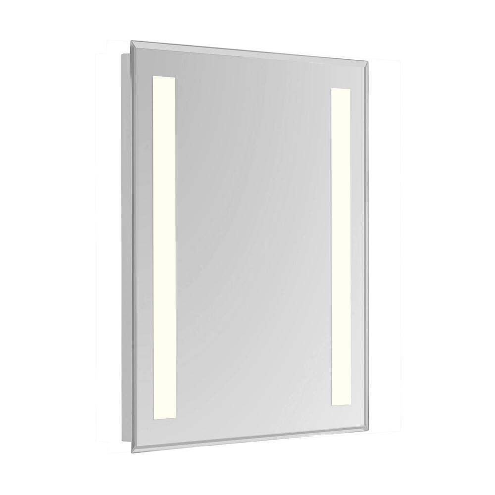 Klein 20 In X 40 In 2 Sides Led Wall Mirror With Rectangle Steel